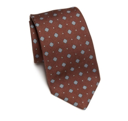 Micro Floral Printed Tie by Kiton in The Blacklist