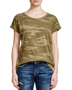 The Crewneck Camo T-Shirt by Current/Elliott in Keeping Up With The Kardashians