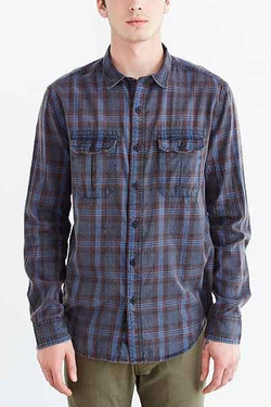 Acid Washed Plaid Button-Down Workshirt by Salt Valley in Modern Family
