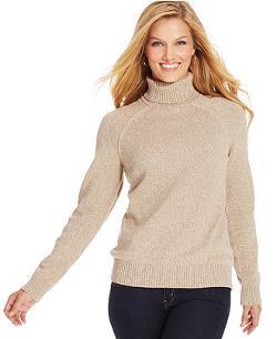 Petite Marled-Knit Turtleneck Sweater by Karen Scott in Prisoners