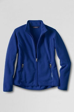 Women's Tall T-200 Fleece Jacket by Lands' End in The Gambler