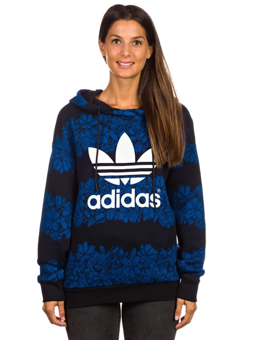 Blue Floral Hoodie by Adidas Originals in Keeping Up With The Kardashians - Season 12 Episode 7