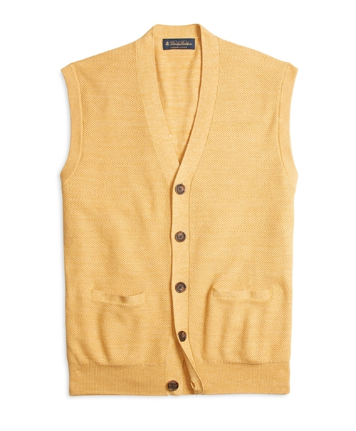 Supima Cotton Bird's-Eye Vest by Brooks Brothers in The Good Wife - Season 7 Episode 4