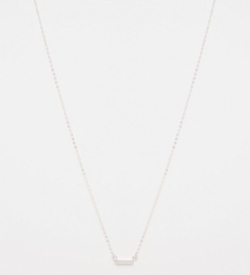 Tiny Bar Necklace by Stella & Bow in Arrow