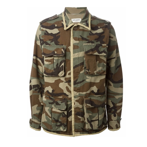 Camouflage Jacket by Saint Laurent in Keeping Up With The Kardashians - Season 12 Episode 10