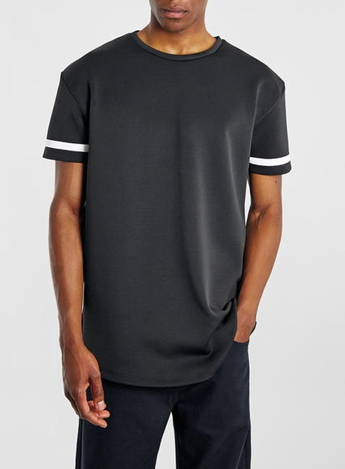 Scuba Stripe Sleeve T-Shirt by Topman in Everybody Wants Some