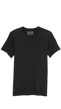 Short Sleeve Crew Neck T-Shirt by Save Khaki in No Strings Attached