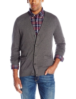 Men's Fayston Cotton Cardigan Sweater by Jack Spade in Fifty Shades of Black