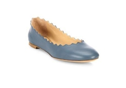 Chloe Scalloped Leather Ballet Flats by Chloé in Jane the Virgin