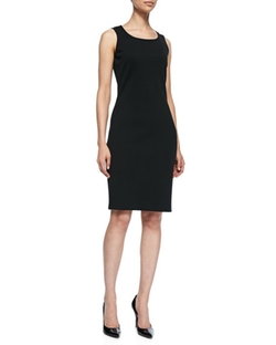 Sleeveless Mid-Length Dress by St. John Collection in Guilt