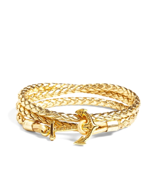 Kiel James Patrick Leather Wrap Bracelet by Brooks Brothers in She's Funny That Way