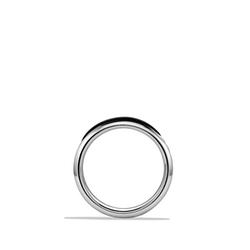 Chevron Onyx Stone Band Ring by David Yurman in Black Mass