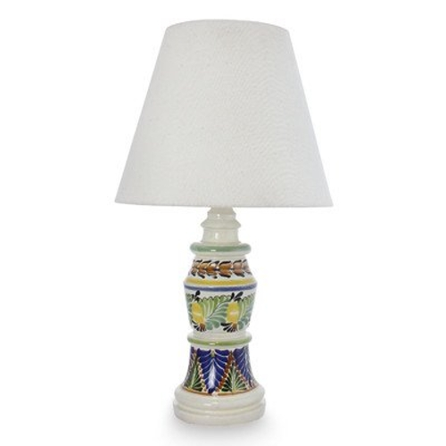 The Gorky Gonzalez Majolica Ceramic Table Lamp by Novica in The D Train