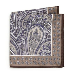 Paisley Silk Pocket Square by Ike Behar in Ballers