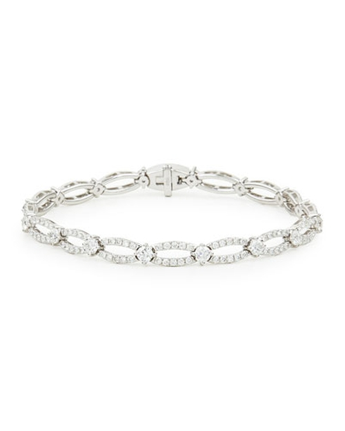Diamond Oval-Link Bracelet by NM Diamond in Sex and the City