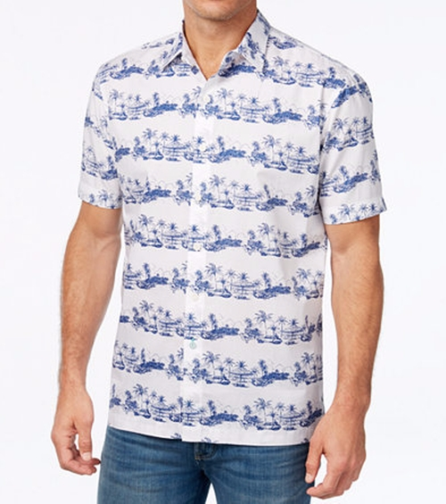 Cuba Cruiser Graphic-Print Shirt by Tommy Bahama in New Girl - Season 6 Episode 3