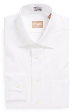 Cotton Oxford Point Collar Dress Shirt by Gitman in John Wick