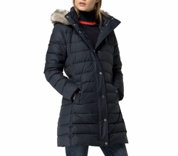 Long Tailored Down Jacket by Tommy Hilfiger in A Bad Moms Christmas
