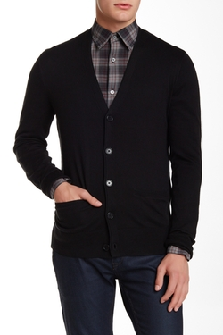 Button Front Yarn Detailing Cardigan by Star USA By John Varvatos in New Girl