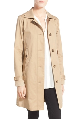 Newton Single Breasted Trench Coat by Cupcakes And Cashmere in Supergirl