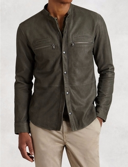 Goat Suede Double Zip Jacket by John Varvatos in Shadowhunters