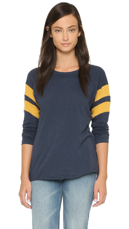 Regina Long Sleeve Tee by NSF in The Mindy Project - Season 4 Episode 8