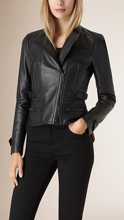 Nappa Leather Biker Jacket by Burberry in Wanted
