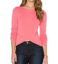 Twiggy Cross Front Crop Sweater by 27 Miles Malibu in Fuller House
