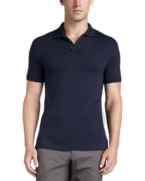Short-Sleeve Mesh-Knit Polo Shirt by Ralph Lauren Black Label in Million Dollar Arm