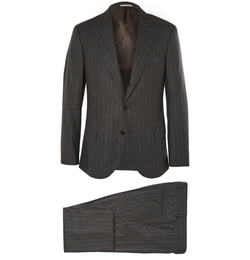 Grey Slim-Fit Wool, Silk And Cashmere-Blend Suit by Brunello Cucinelli in Life