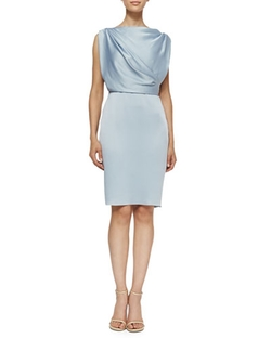 Sleeveless Sheath Dress W/ Draped Back by Jason Wu	 in Suits