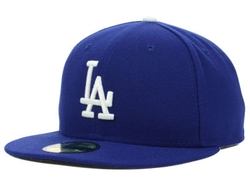 Los Angeles Dodgers MLB Authentic Collection Cap by New Era 59Fifty in Straight Outta Compton