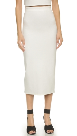 Midi Reversible Ponte Pencil Skirt by AD in Suits