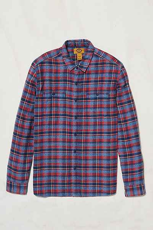 Stapleford Parker Plaid Flannel Button-Down Shirt by Urban Outfitters in The Big Bang Theory - Season 9 Episode 7