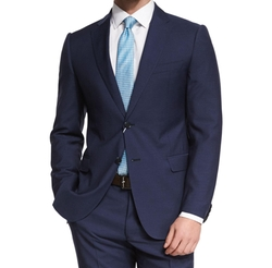 M-Line Solid Two-Piece Wool Suit by Armani Collezioni in Jane the Virgin
