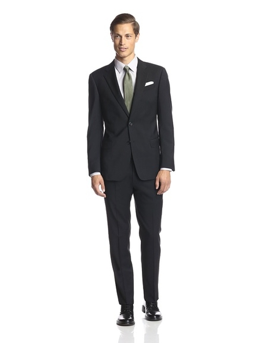 Notch Lapel Suit by Armani Collezioni in London Has Fallen