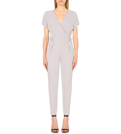 D-Ring Wrap Jumpsuit by Warehouse in Empire