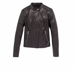 Liv Leather Jacket by Andrew Marc in Power
