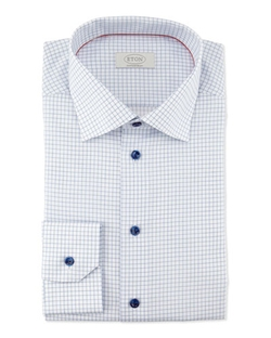 Graph-Check Woven Dress Shirt by Eton in Suits