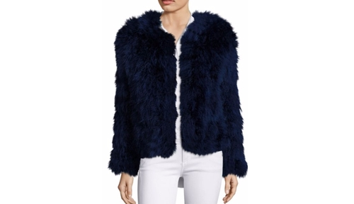 Fluffy Feather Jacket by Pello Bello in Scream Queens - Season 2 Episode 3