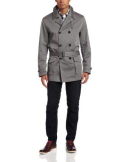 Men's Bonded Sateen Trench Coat by LINCS DC & Co in Ride Along