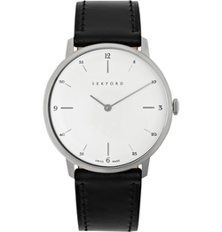 Type 1A Stainless Steel And Leather Watch by Sekford in Billions
