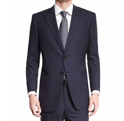 Taylor Textured Herringbone Wool Suit by Giorgio Armani in Ballers