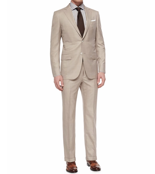 Trofeo Wool/Silk Solid Two-Piece Suit by Ermenegildo Zegna in Live By Night