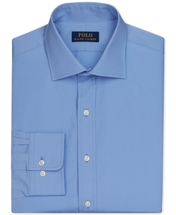 English Poplin Solid Dress Shirt by Polo Ralph Lauren in The Legend of Tarzan