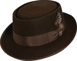 Wool Rocker Fedora Hat by Stacy Adams in The Legend of Tarzan