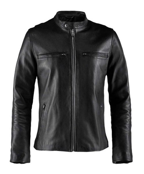 Cafe Racer Vintage Leather Jacket by Soul Revolver in Furious 7
