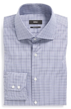 'Gerald' WW Regular Fit Check Dress Shirt by Boss Hugo Boss in The Best of Me