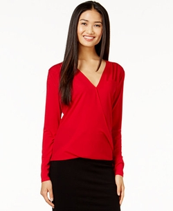 Faux-Wrap Top by Vince Camuto in Mistresses