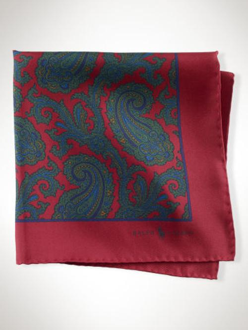 Silk Paisley Pocket Square by Polo Ralph Lauren in Mortdecai